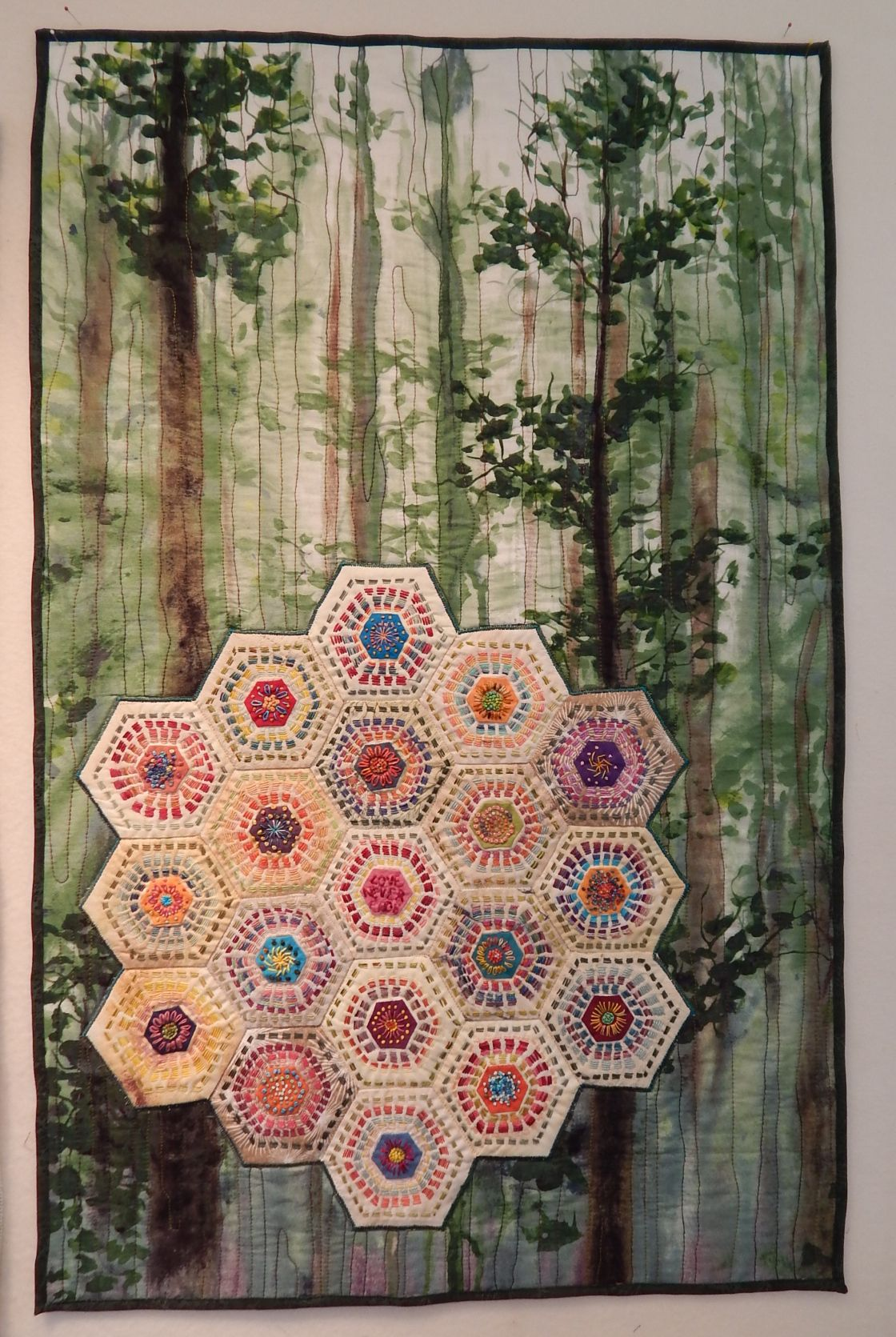 DSCN3985 Perle cotton, Quilts, Kantha embroidery