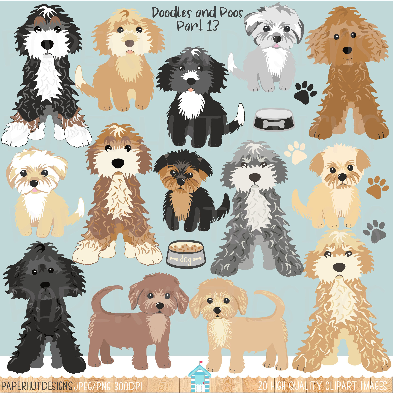 Dog Clipartdog Clip Art Dog Illustrationpuppy Dogsdogs Etsy Dog Clip Art Dog Illustration Doodle Dog
