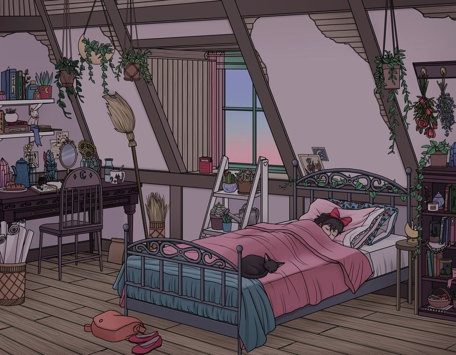 Kiki S Room An Art Print By Kelsey Smith With Images