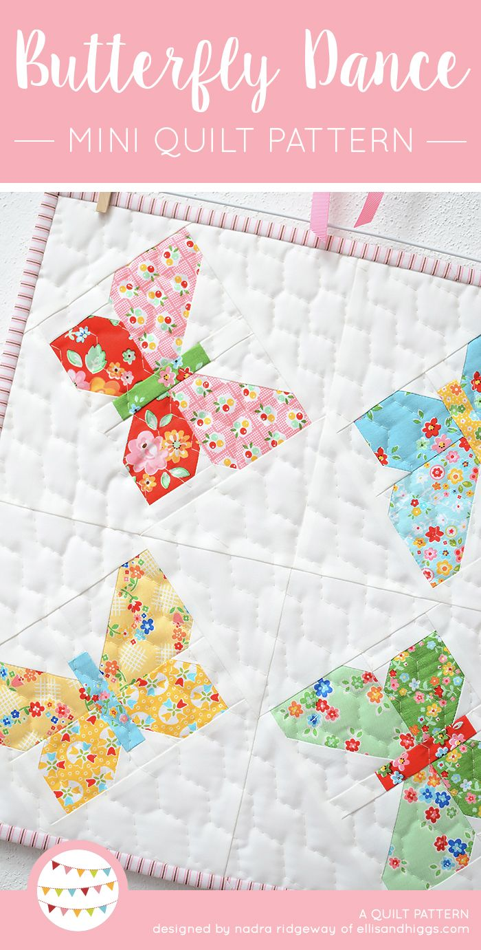 New quilt pattern neue patchwork anleitung butterfly mini quilt