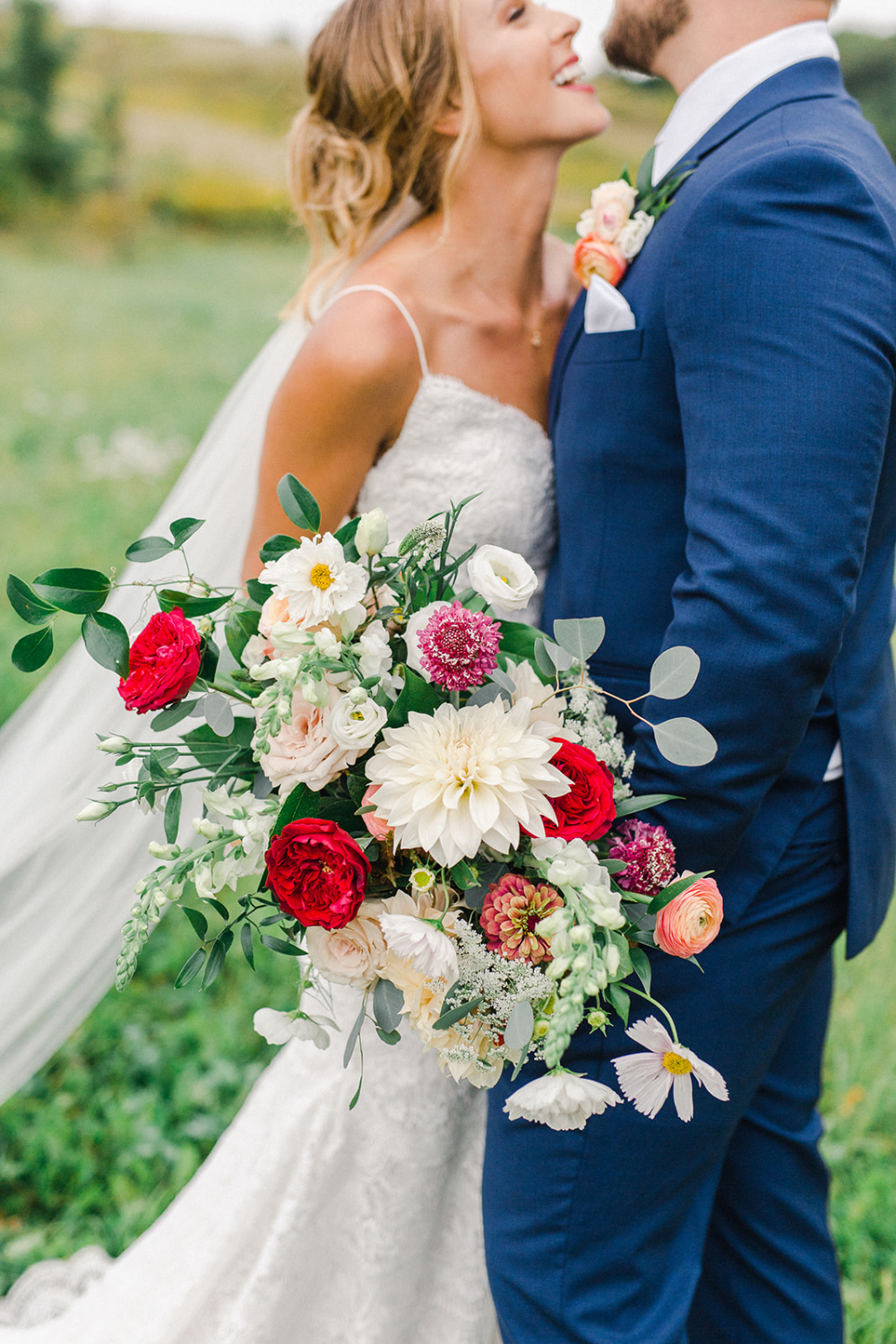 Colorful bridal bouquet by Twin Cities MN wedding florist ...