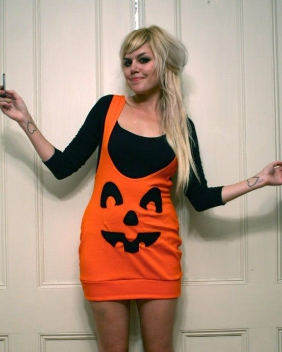 Hooker jack o lantern - Take an old dress you donu0027t wear anymore and draw on it with Sharpie to make a pumpkin | 22 Last-Minute DIY Halloween Costumes  sc 1 st  Pinterest & Take an old dress you donu0027t wear anymore and draw on it with Sharpie ...