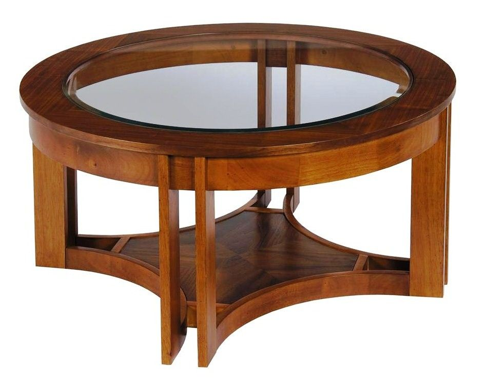 solid wood coffee table with glass top round glass and wood coffee