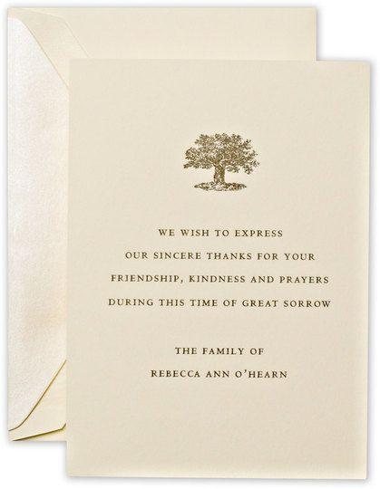 crane letterpress sympathy cards  funeral thank you cards