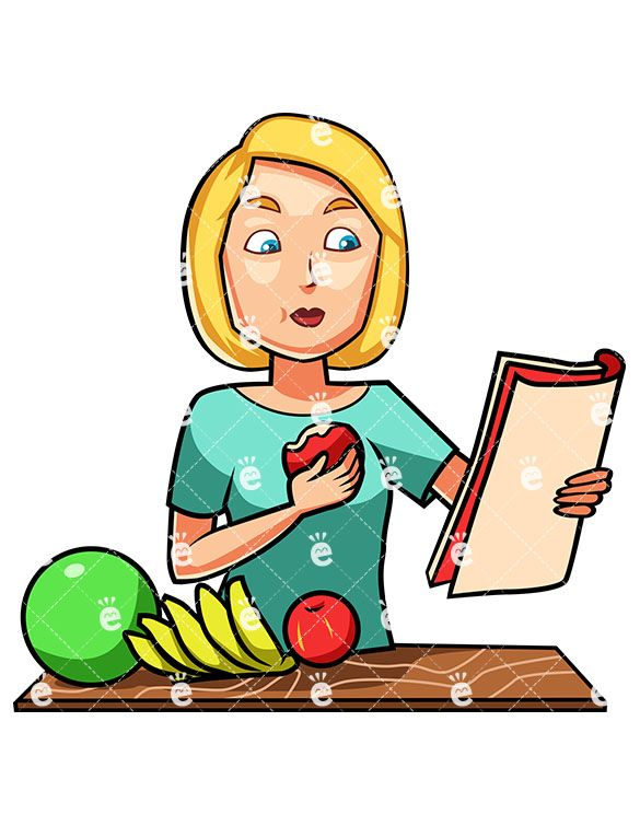 A Woman Eating An Apple While Reading - FriendlyStock.com ...