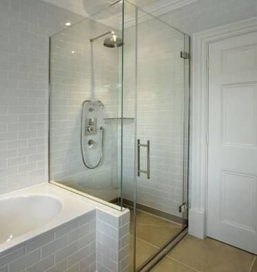 Small Bathroom With Shower Screen On Bath Edge Google Search Shower Cubicles Frameless Shower Enclosures Small Bathroom With Shower