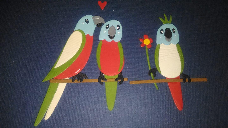 Pin Van Ingrid Alblas Op Mes Dies Et Tampons Kaarten Maken Kaarten Vogels