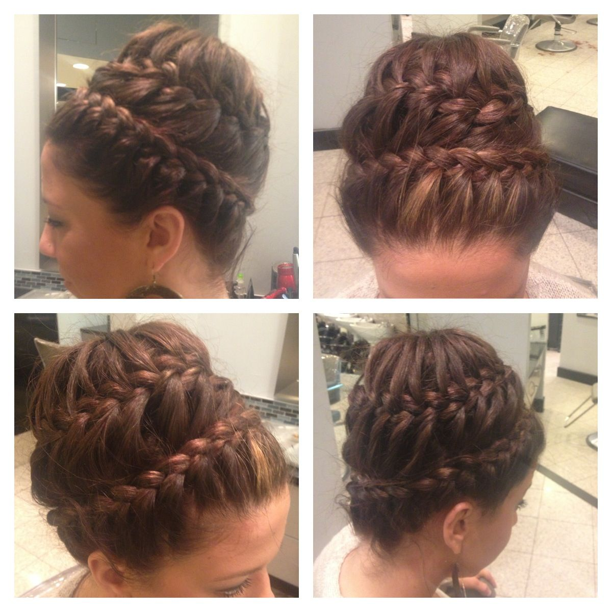 Updo braids formal semi formal hair glamorous formal