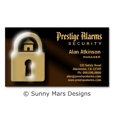 Brown And Gold Pad Lock Security Business Cards Zazzle Com Business Cards Cards Security Companies