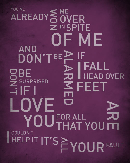 Head Over Feet By Alanis Morissette Songlyricprint Typography