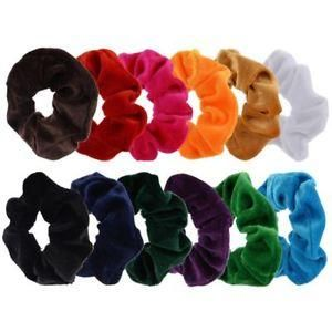 NEW BLACK Classic SMALL Velvet Hair Scrunchy Bobble Ponytail Hairband