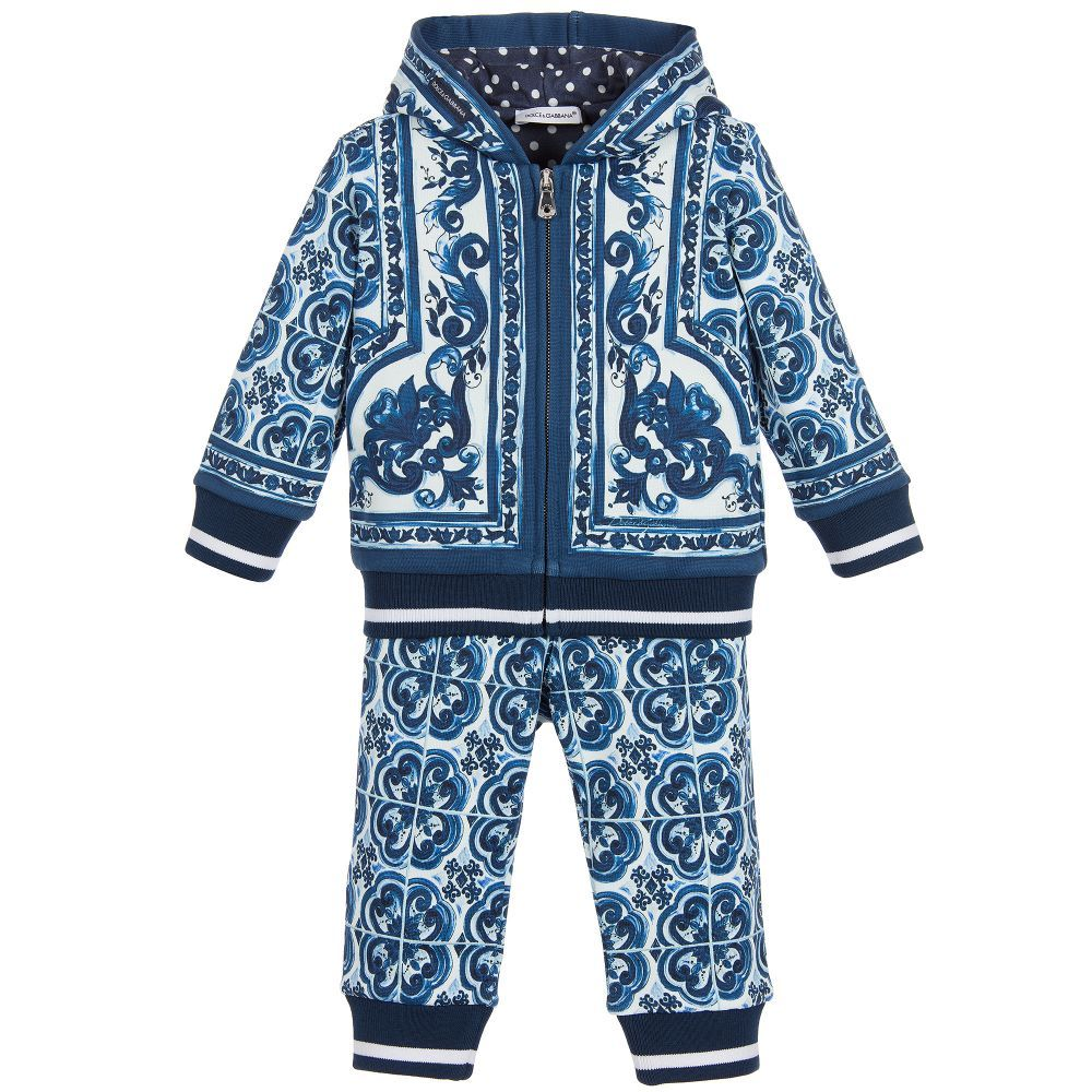 46be4c036a769 Dolce   Gabbana Baby Boys  Majolica  Tracksuit at Childrensalon.com
