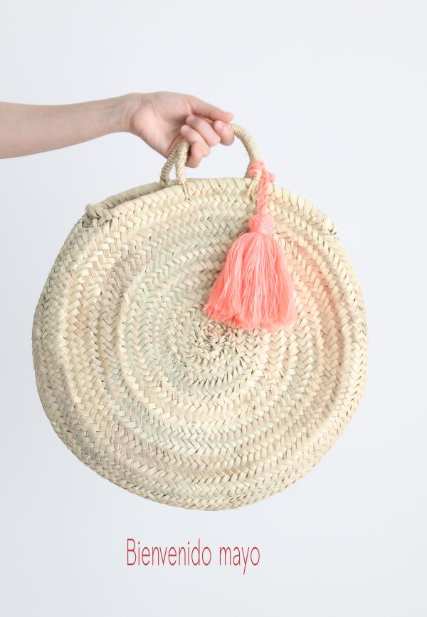 Moroccan basket straw bag souk basket, hand-held basket wicker basket