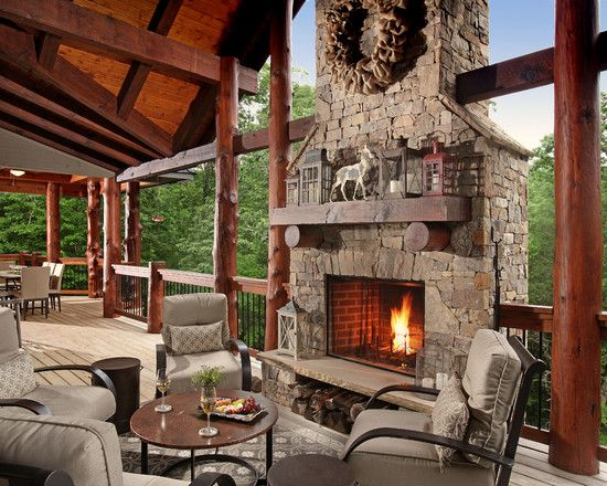 Rustic Fireplace Design brilliant modern rustic lodge design: awesome rustic porch design