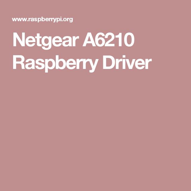 A6210 Netgear Driver