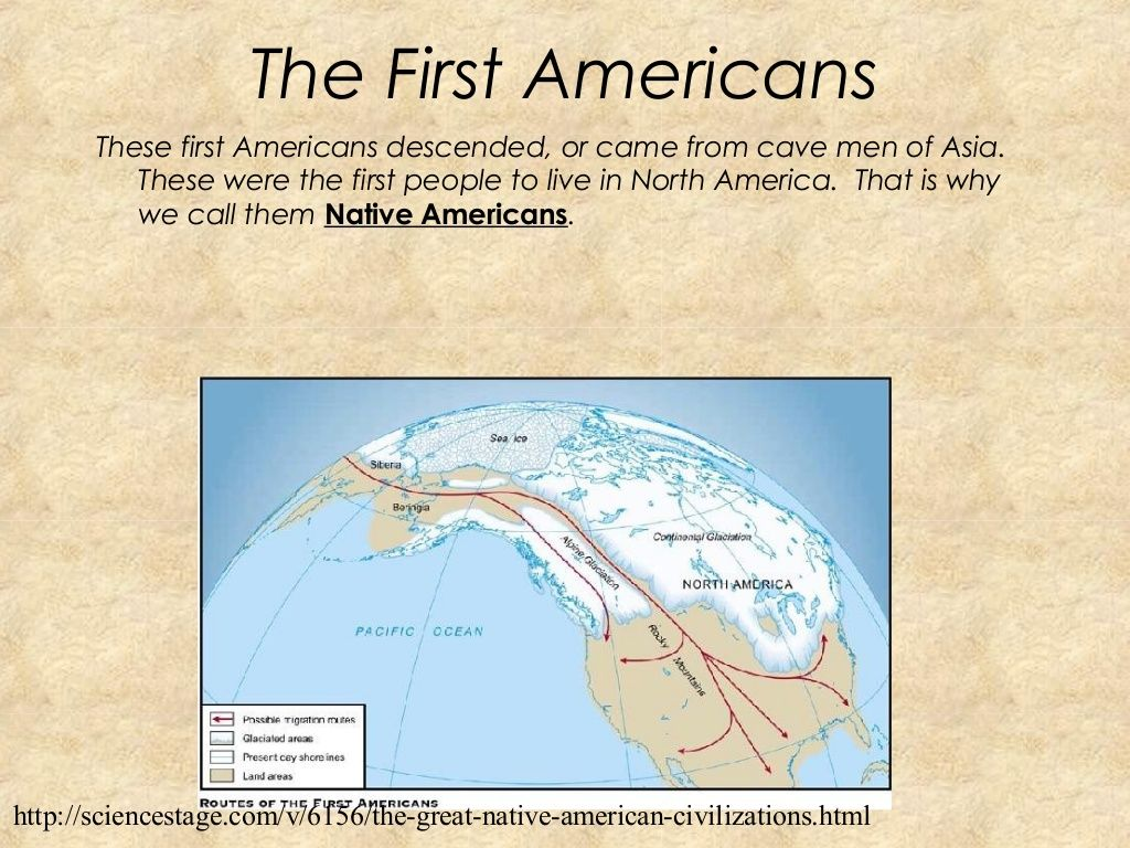 Native americans came from Asia