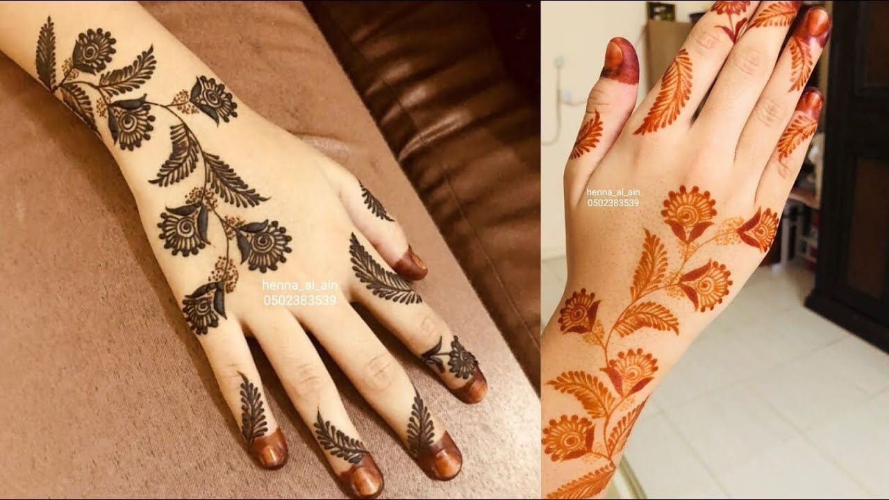 13 Unique Henna Designs Doing The Rounds This Wessing: Simple And Easy Eid Ul Adha Mehndi Design//unique Henna
