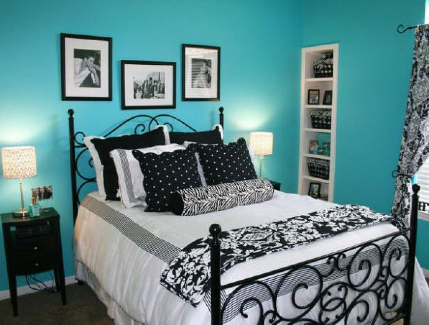 prodigious Teal Blue And Black Bedroom Part - 4: Bedroom Ideas With Black Furniture And Blue Walls | Home gallery