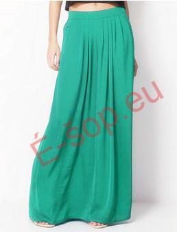 347296a2813 Jednobarevná dlouhá sukně s kapsami