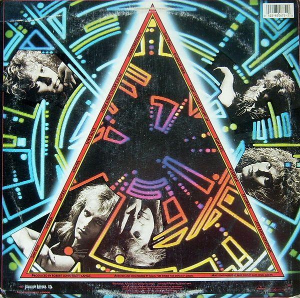 Def Leppard Hysteria Back Def Leppard Def Leppard Hysteria Vinyl Record Album