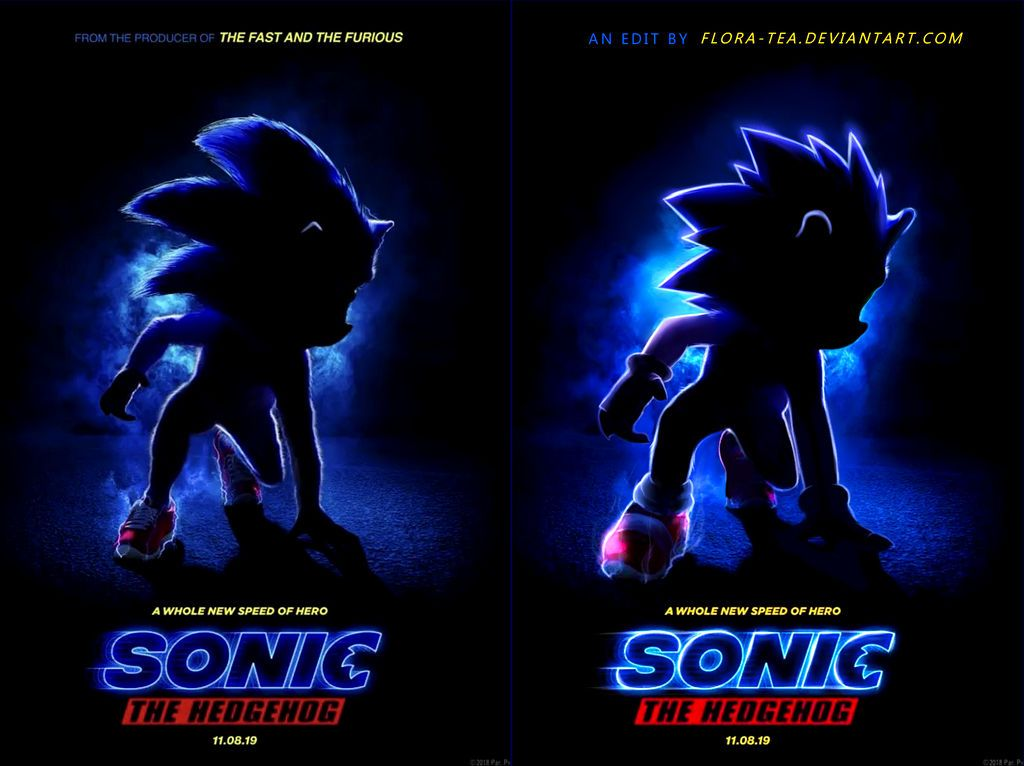 Sonic Movie Poster Redo By Fainalotea Sonic Hedgehog Movie
