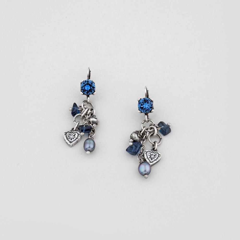 Miglio designer jewellery denim blue swarovski crystal chandelier miglio designer jewellery denim blue swarovski crystal chandelier earrings r39900 http arubaitofo Choice Image