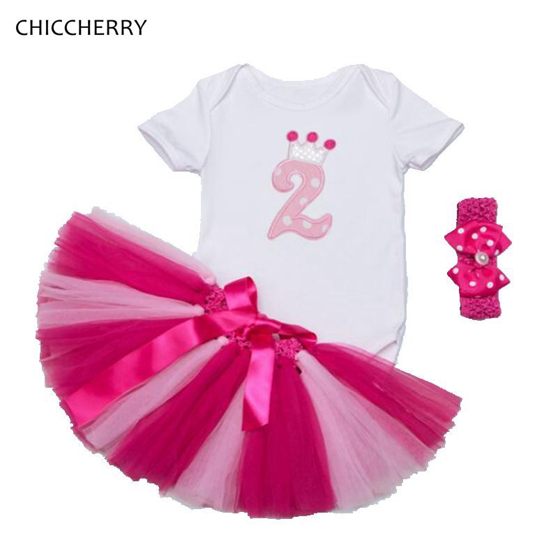 c0ccb835b9c3 Click to Buy    Pink 2 Years Toddler Birthday Outfits Short Sleeve ...