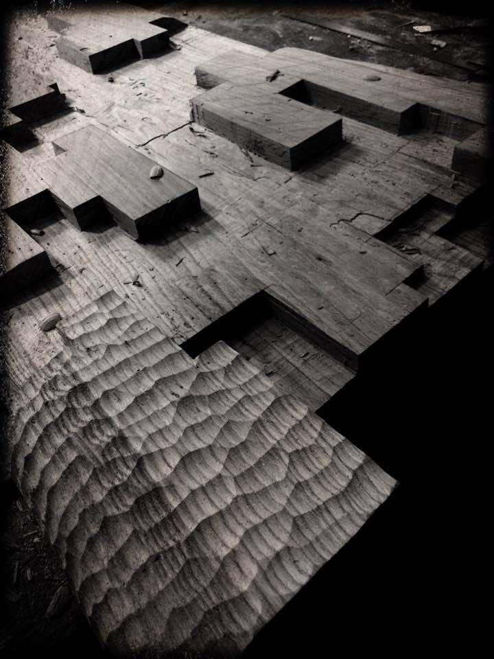 Alban LANORE / Oak stele / work in progress
