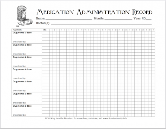 Comprehensive image regarding free printable medication chart