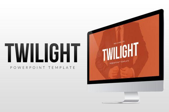 Twilight - PowerPoint Template by everslide on @creativemarket - powerpoint brochure template