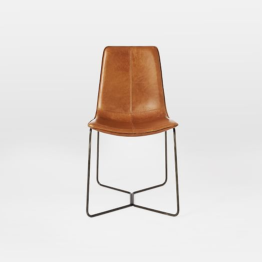 Slope Leather Dining Chair In 2020 Leather Dining Chairs Dining Chairs Leather Dining Room Chairs