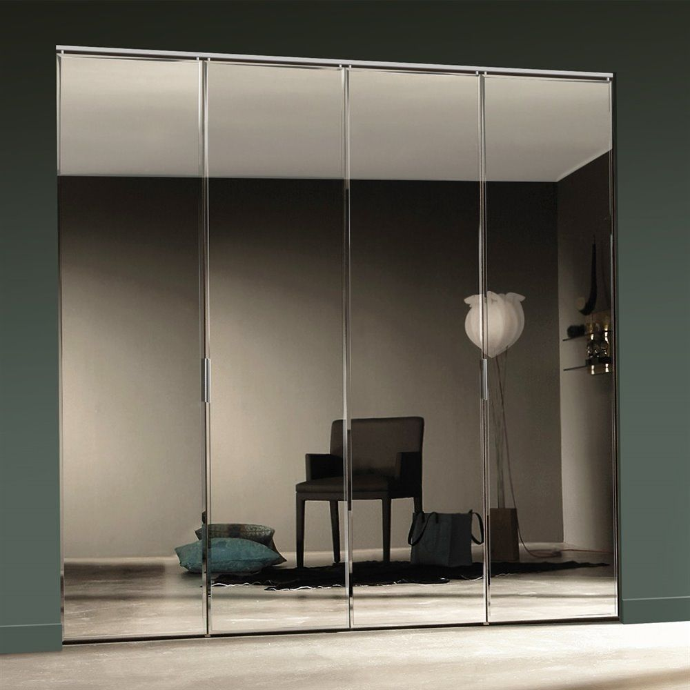 Mirrored Bifold Closet Doors Frameless Mirrored Bifold Closet