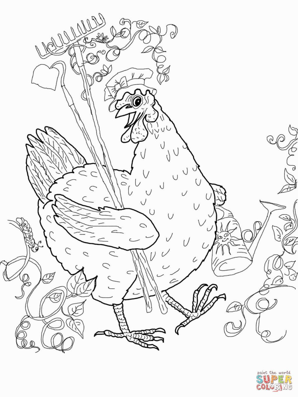 Little Red Hen Coloring Pages | Coloring Pages | Pinterest | Red hen ...