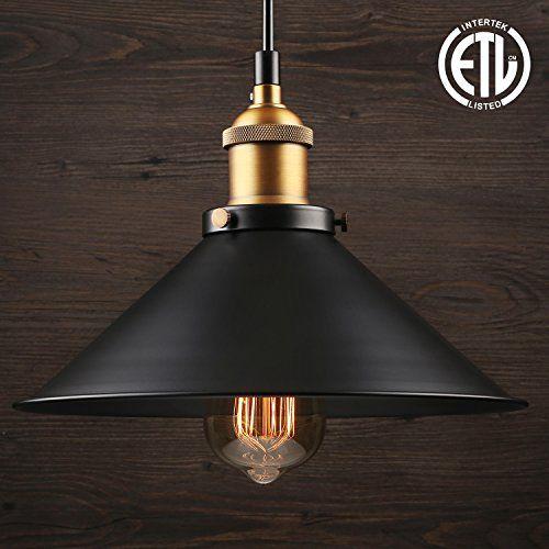 1 Light Industrial Hanging Pendant Light Retro Vintage Style