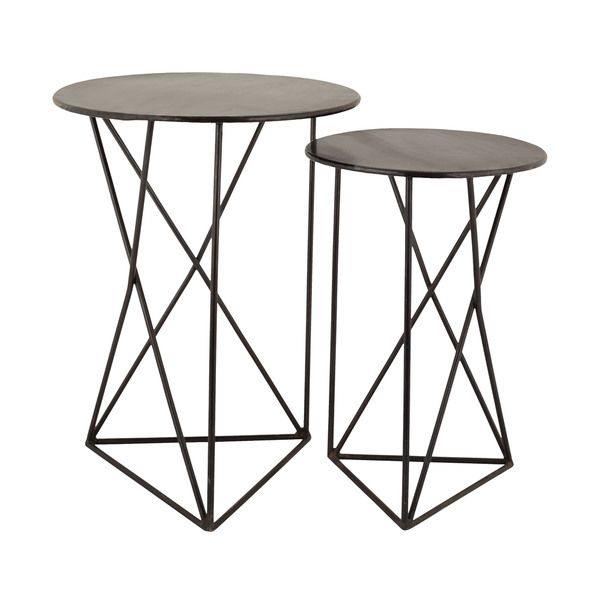 Gentil Hand Crafted From High Quality Metal, The Gorgeous Geometric Metal Accent  Tables Adds