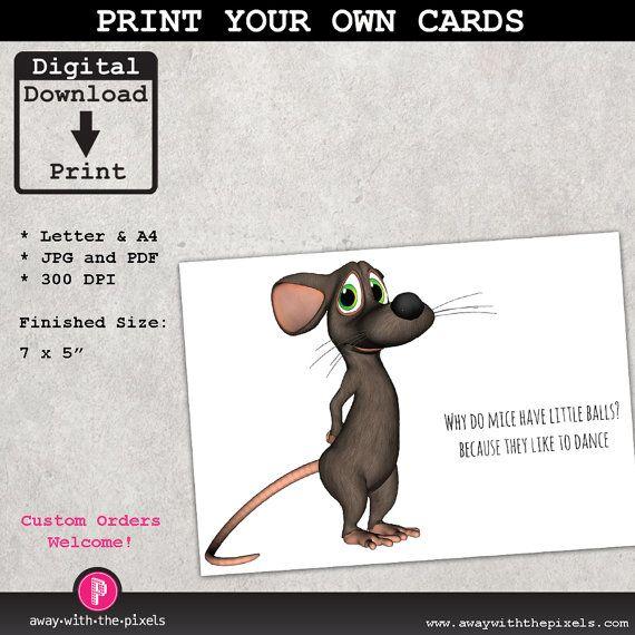Funny printable greeting card joke why do mice have small balls funny printable greeting card joke why do mice have small balls mouse joke m4hsunfo