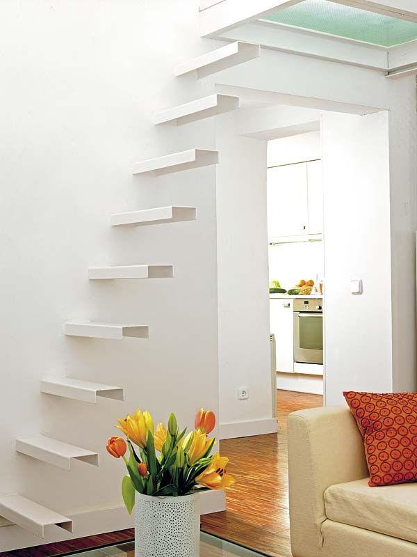 Escaleras para espacios peque os gradas pinterest - Escaleras espacios reducidos ...
