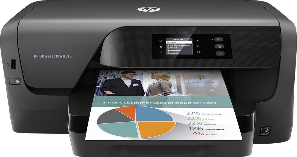 HP - OfficeJet Pro 8210 Wireless Inkjet Instant Ink Ready