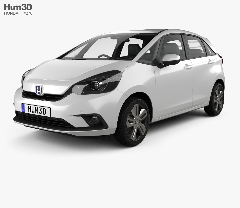 3d Model Of Honda Jazz E Hev 2020 Honda Jazz 3d Model Honda