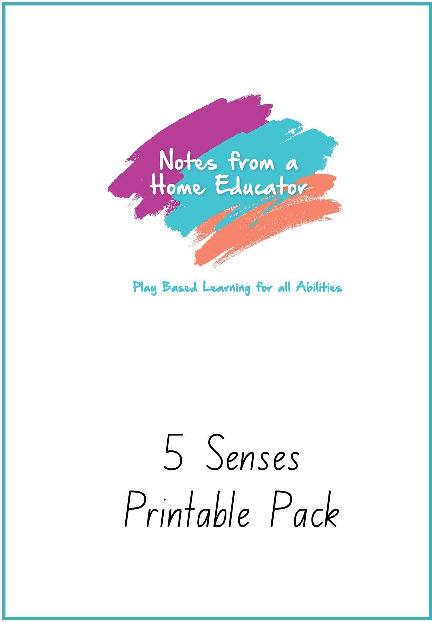 Five Senses Printable Pack
