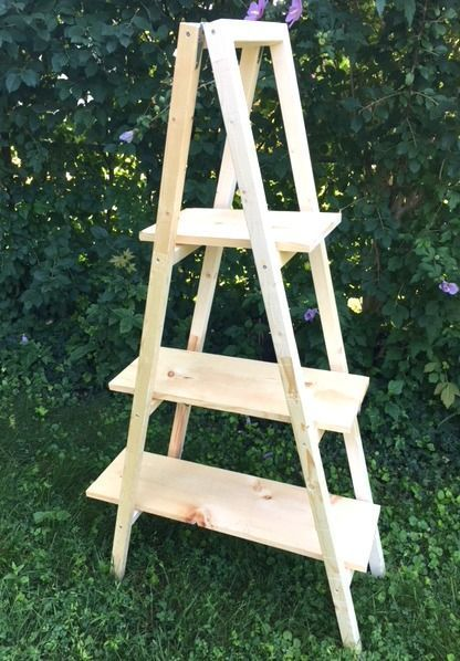 Make a Ladder Plant Stand - Easy DIY - Only $20 for Lumber - My Bright Ideas