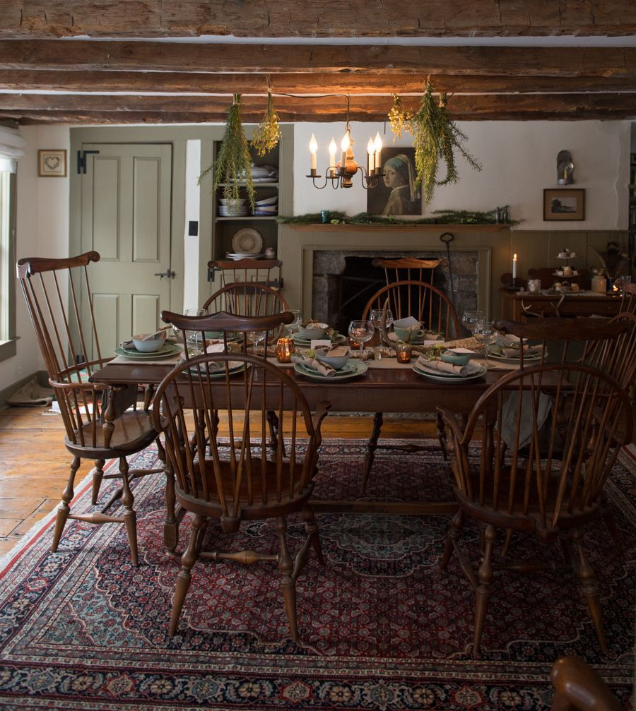 Colonial Dining Room Furniture: Winter Cabin Wedding Shoot In 2019