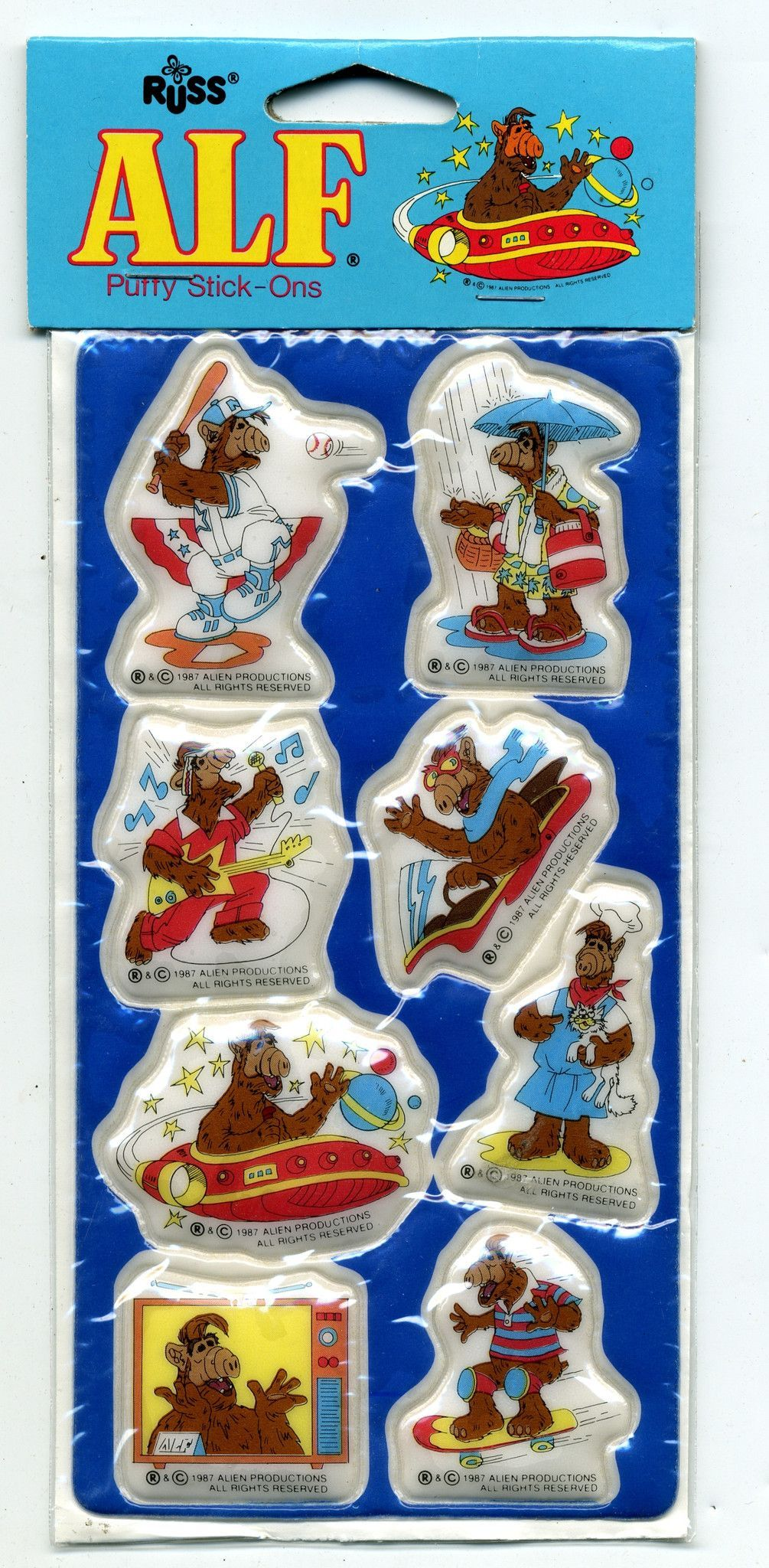 GHOSTBUSTERS PUFFY STICK-ONS SEALED IN PACKAGE    COLLECTIBLE 1984