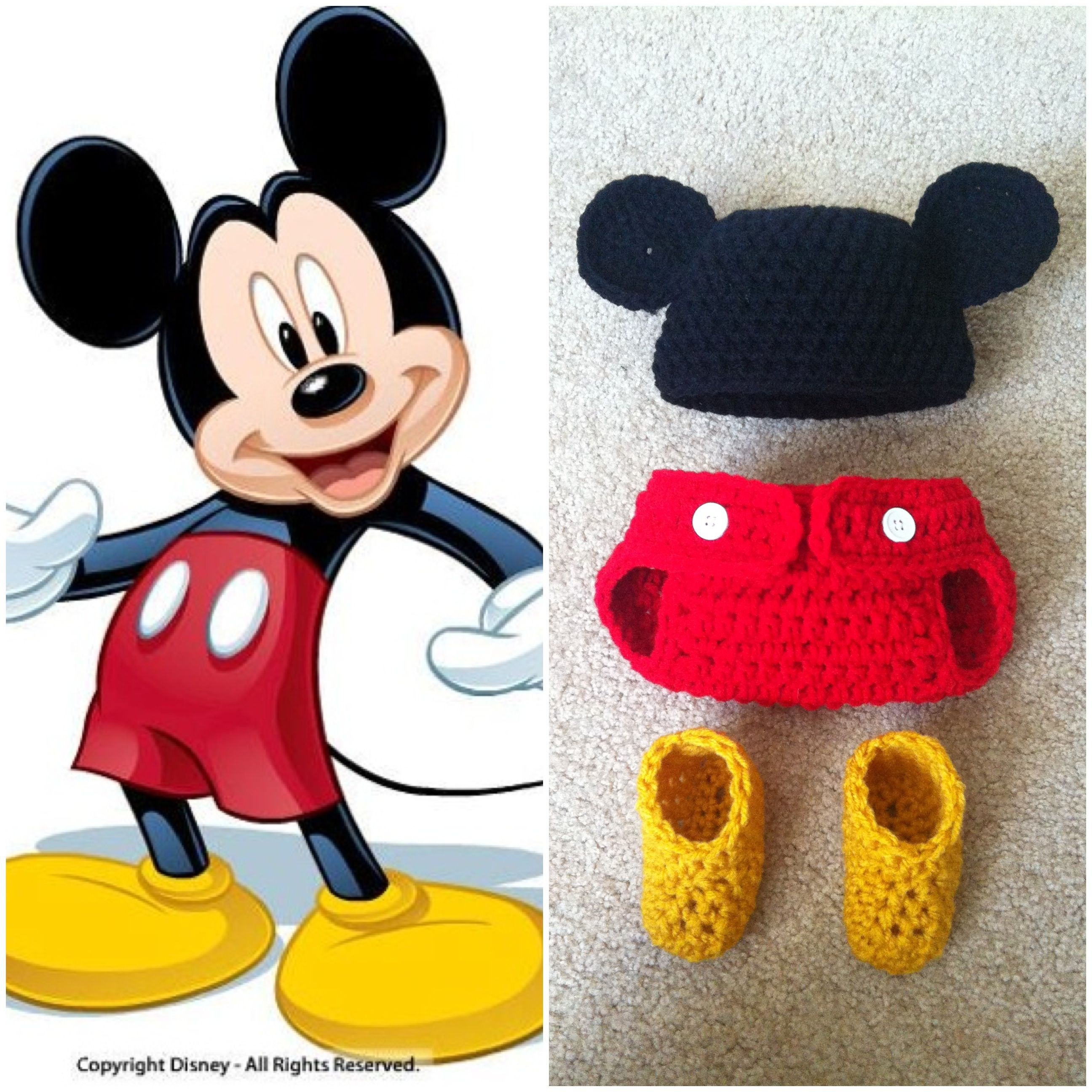 Crochet Mickey Mouse Outfit | Future baby | Pinterest