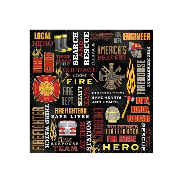 Firefighter Fireman Fire Scrapbook Paper Fire Grad Pinterest