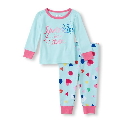 Baby Girls Baby And Toddler Long Sleeve  Sparkle Like A Star  Top And Heart b7c4a9d52