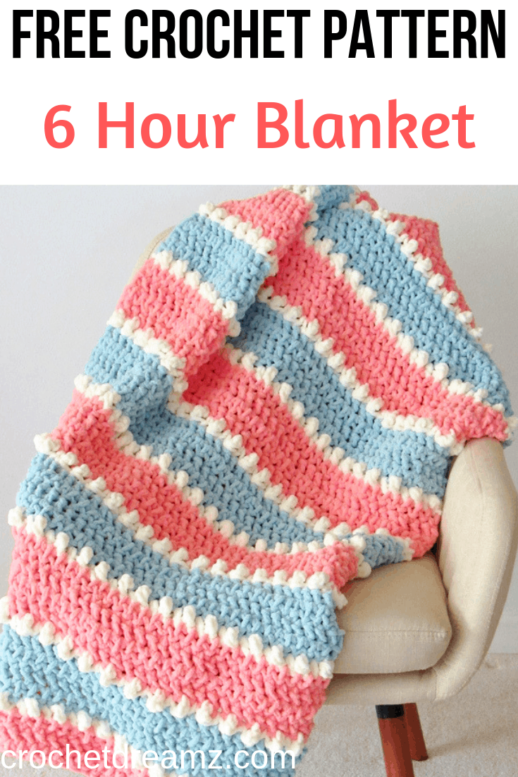 Easy Crochet Baby Blanket, 6 Hour Blanket