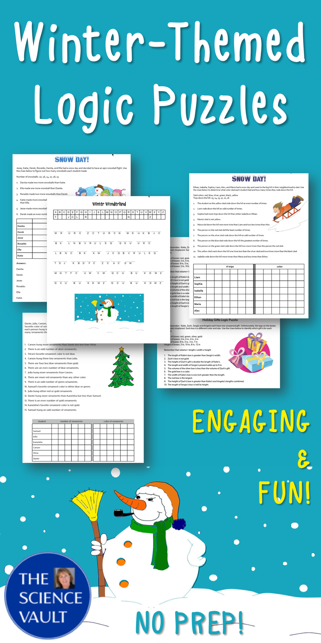 Winter Themed Logic Puzzles With Critical Thinking