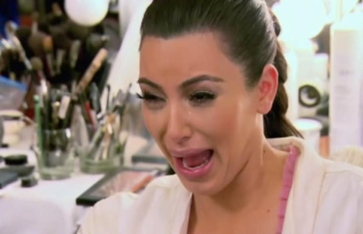 Resultado de imagen para kim kardashian cries divorce