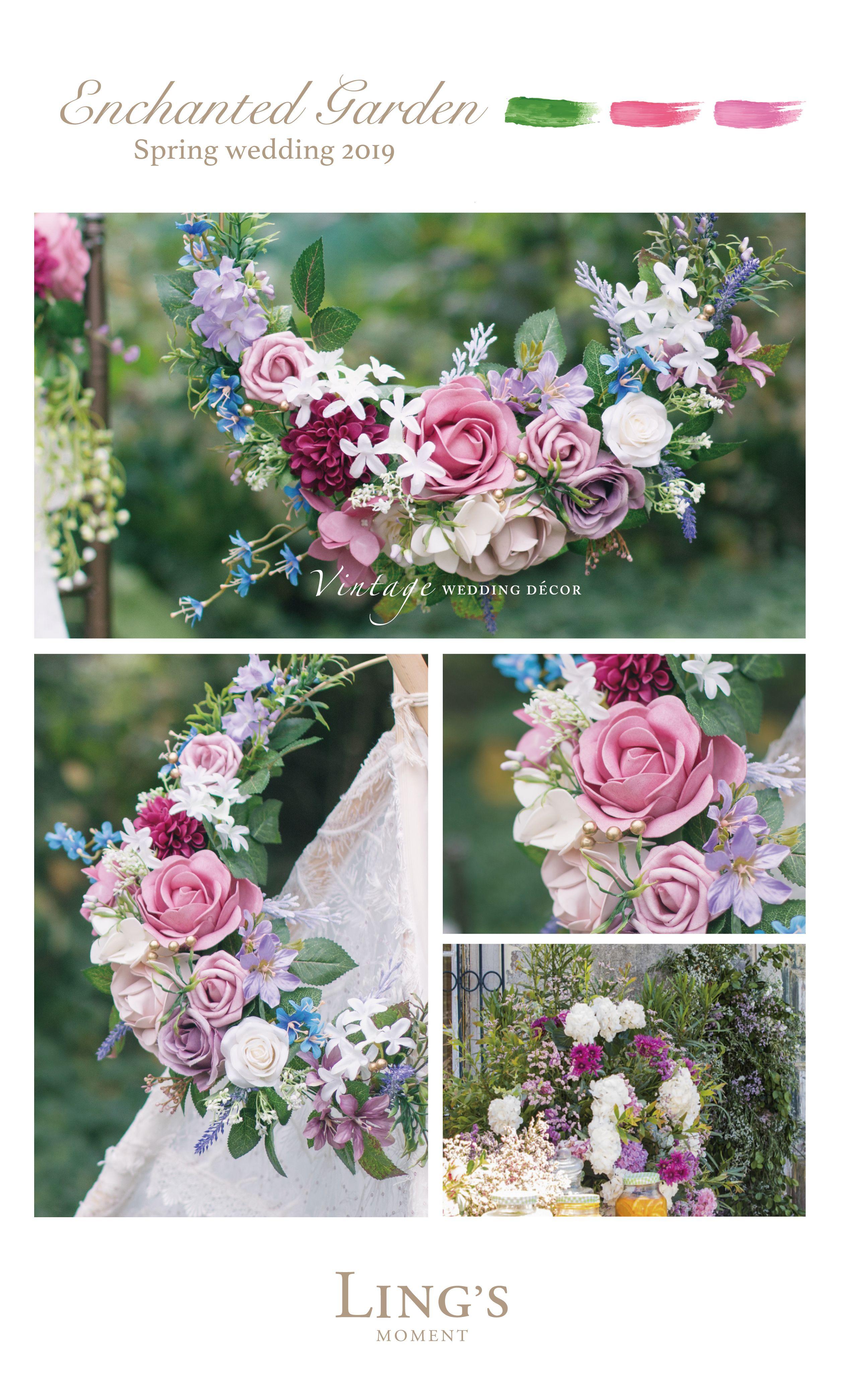 Spring/Summer 2019 Wedding Flowers, 40 Colors Rose, Peony